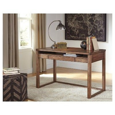 baybrin home office small desk rustic brown signature design by rh pinterest com