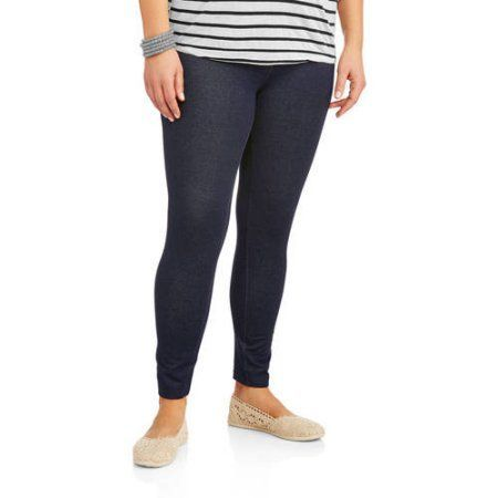 4535b066e13af Faded Glory Women's Plus-Size Essential Knit Leggings, Size: 3XL, Blue