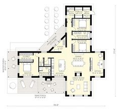 Contemporary Style House Plan - 3 Beds 2.5 Baths 2180 Sq/Ft Plan #924-1 Floor Plan - Main Floor Plan - Houseplans.com #homefloorplans