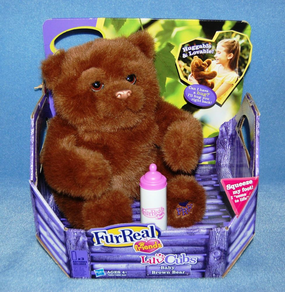 Furreal Friends Luv Cubs Brown Bear Baby Bottle Interactive Plush Toy New In Box Fur Real Friends Best Kids Toys Cool Toys [ 1000 x 976 Pixel ]