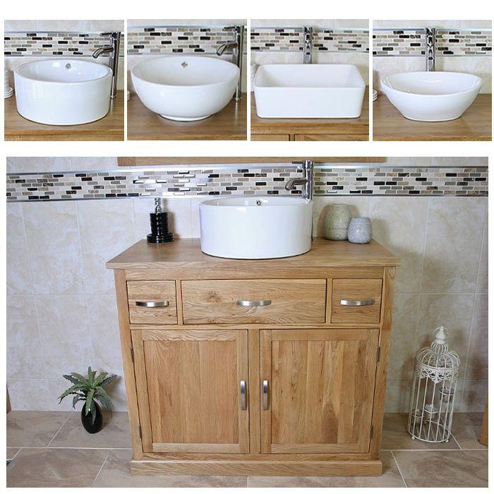 details about bathroom vanity unit oak cabinet furniture wash stand rh pinterest com