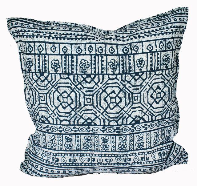 Indoor Outdoor Cushion Cover Indigo Batik