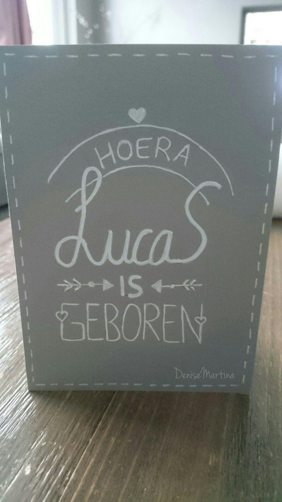 #geboortekaartje #handletteren #dutchhandlettering #DeniseMartina