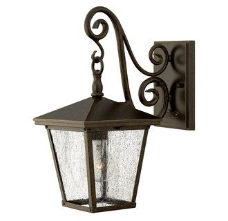 """View the Hinkley Lighting 1430 Traditional / Classic Single Light 15.25"""" Tall Outdoor Wall Lantern from the Trellis Collection at Build.com."""