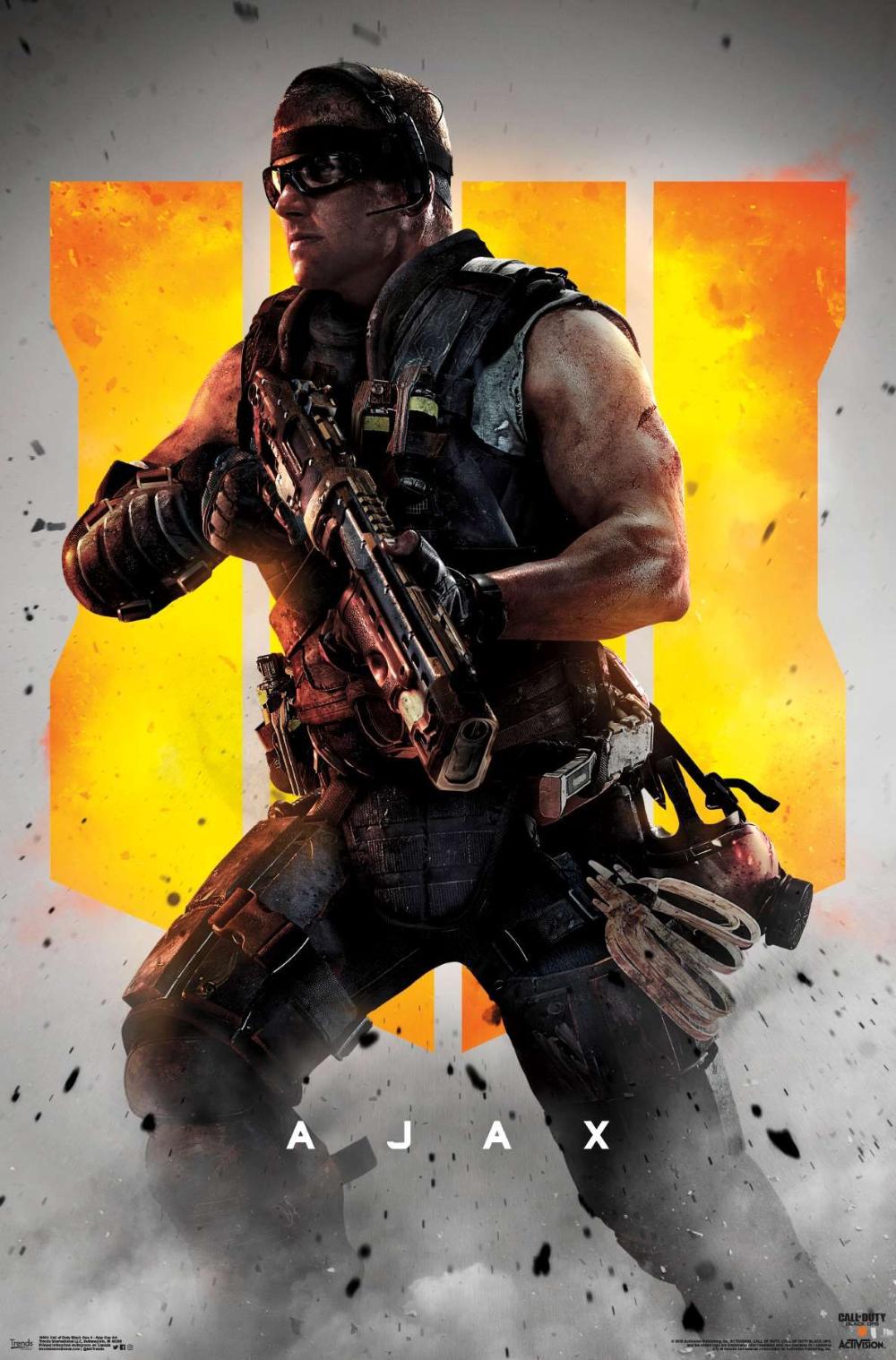 Call Of Duty Black Ops 4 Ajax Key Art Black Ops Black Ops 4 Call Of Duty