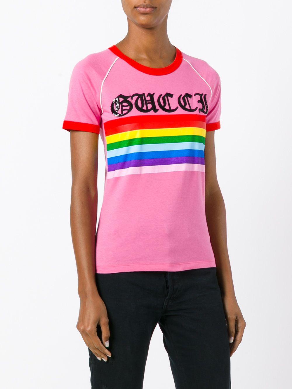 3fe4b0d42 Gucci Loved rainbow stripe t-shirt | [ B A S I C S / S I L O S ] | T ...