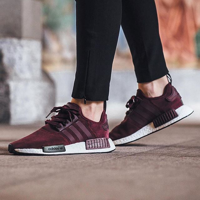 Chaussures Femme Magasin En France Adidas NMD_R1 Bordeaux