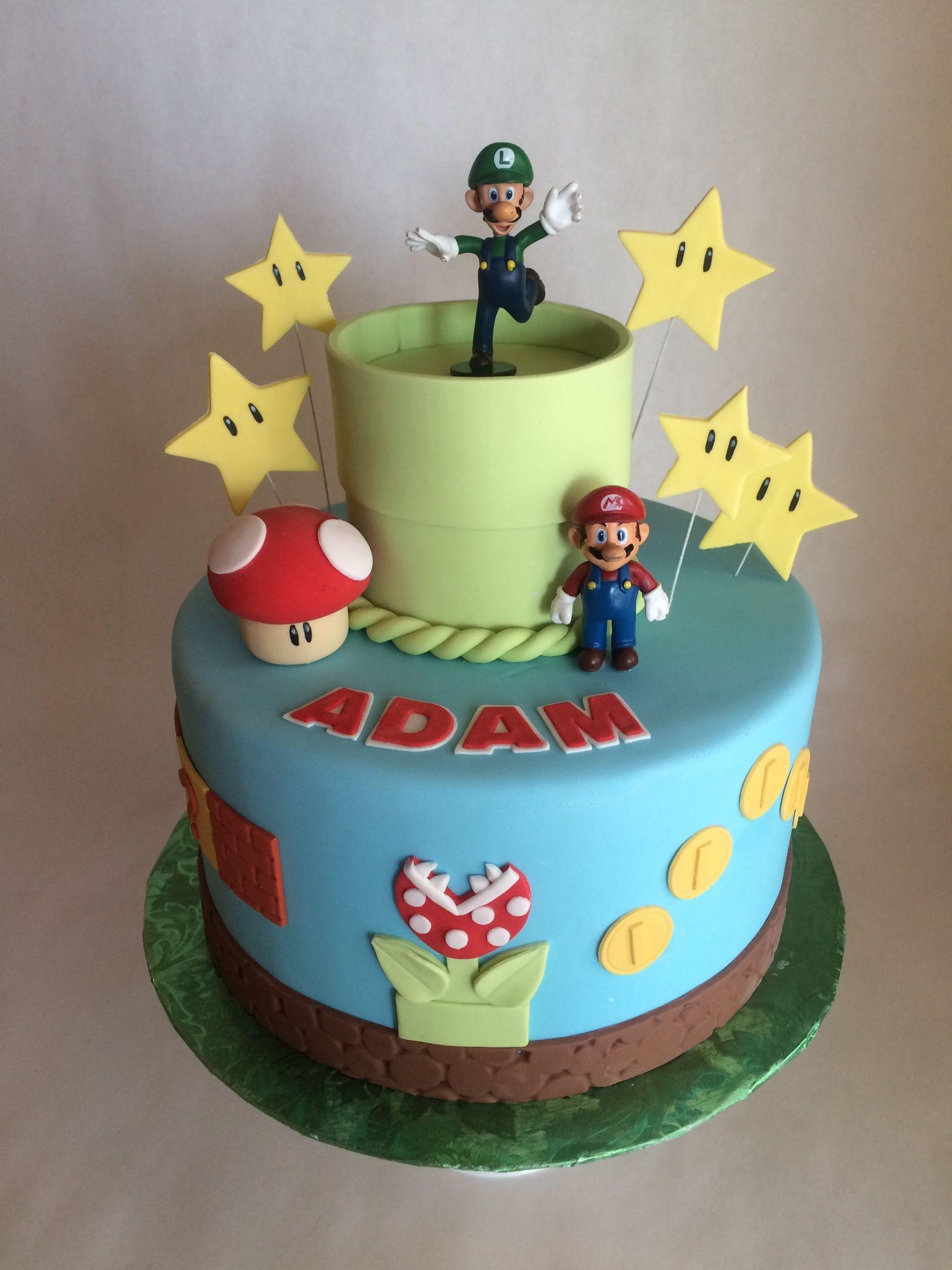 Birthday cake nintendo mario luigi mario bros
