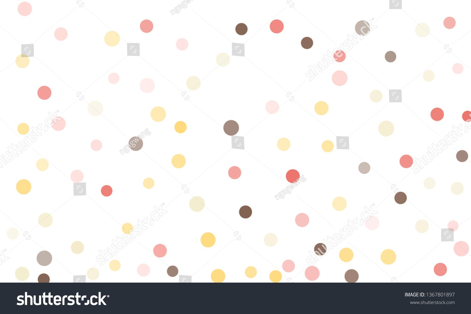 Circles Confetti Falling On Transparent Background Round Dot
