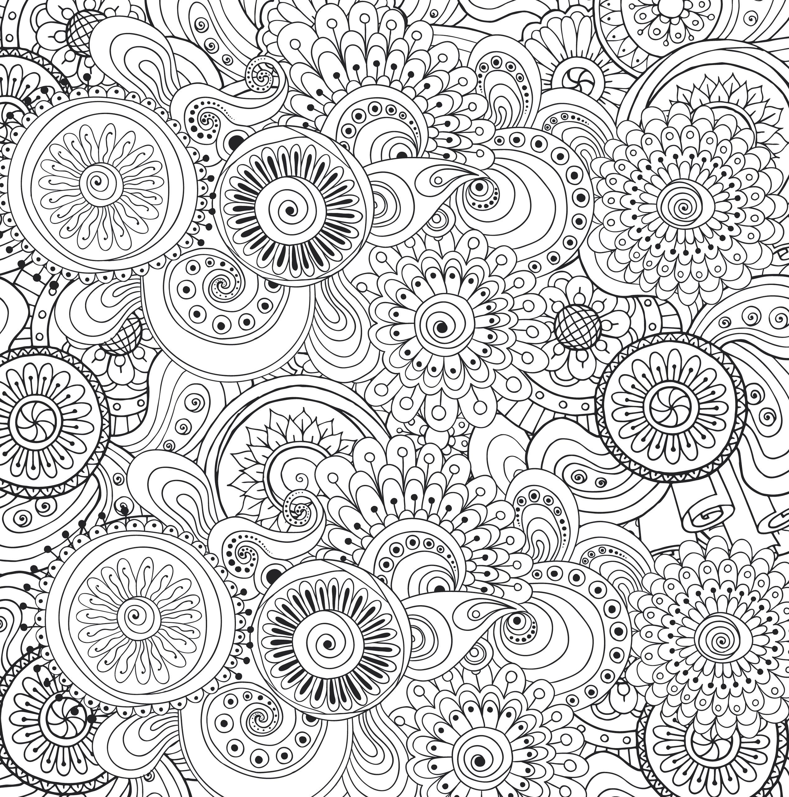 Stress relief coloring pages mandala - Peaceful Paisleys Adult Coloring Book 31 Stress Relieving Designs Peter Pauper Press