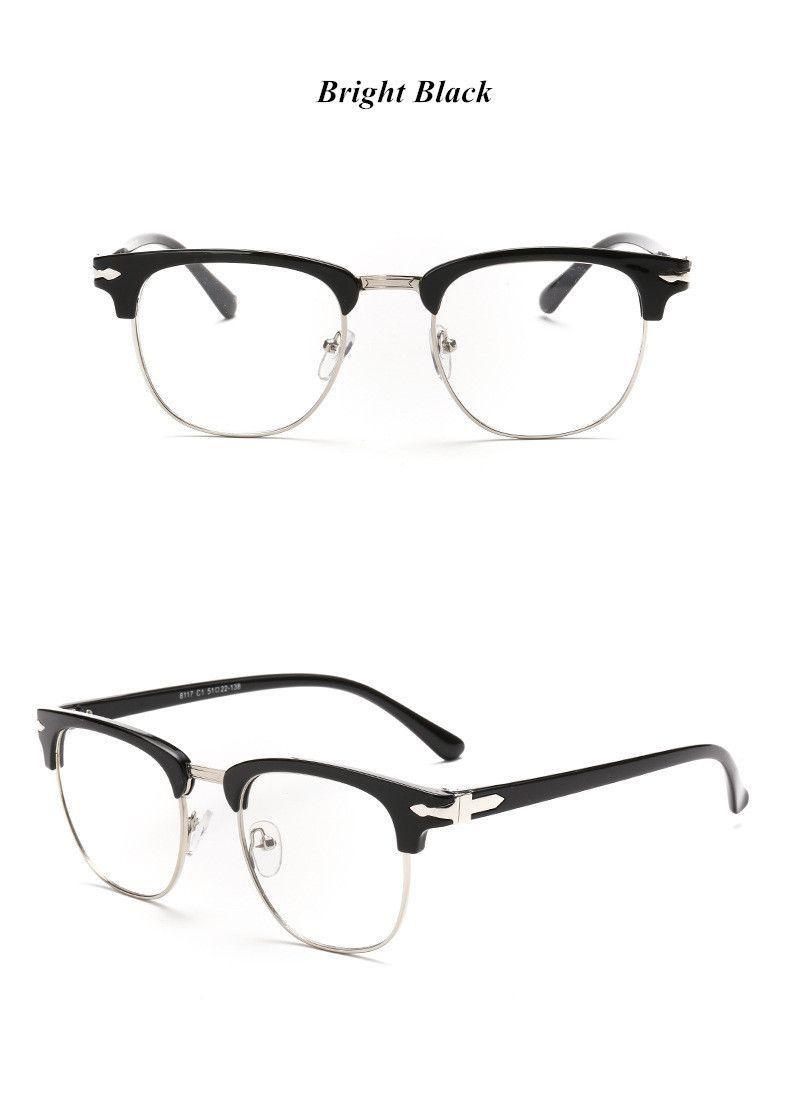 Photo of Marke Half Frame Männliche Brillen Frauen Frühling Bein Vintage Männer Brillen Rahmen Optische Brillengestell Verschreibungspflichtige Brillen