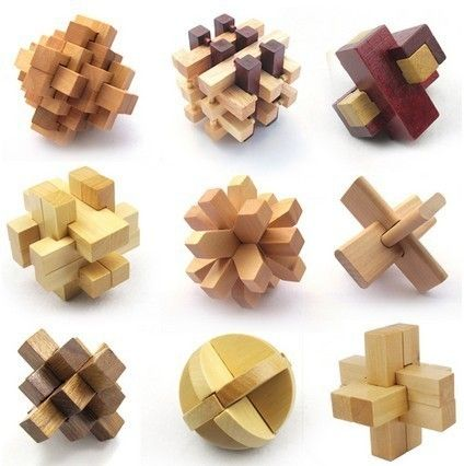 trolebús En necesidad de Abrasivo  Chinese Wooden Puzzles ( KongMing Lock) - FeelGift | Wooden puzzles, Wood  puzzles, Wood toys