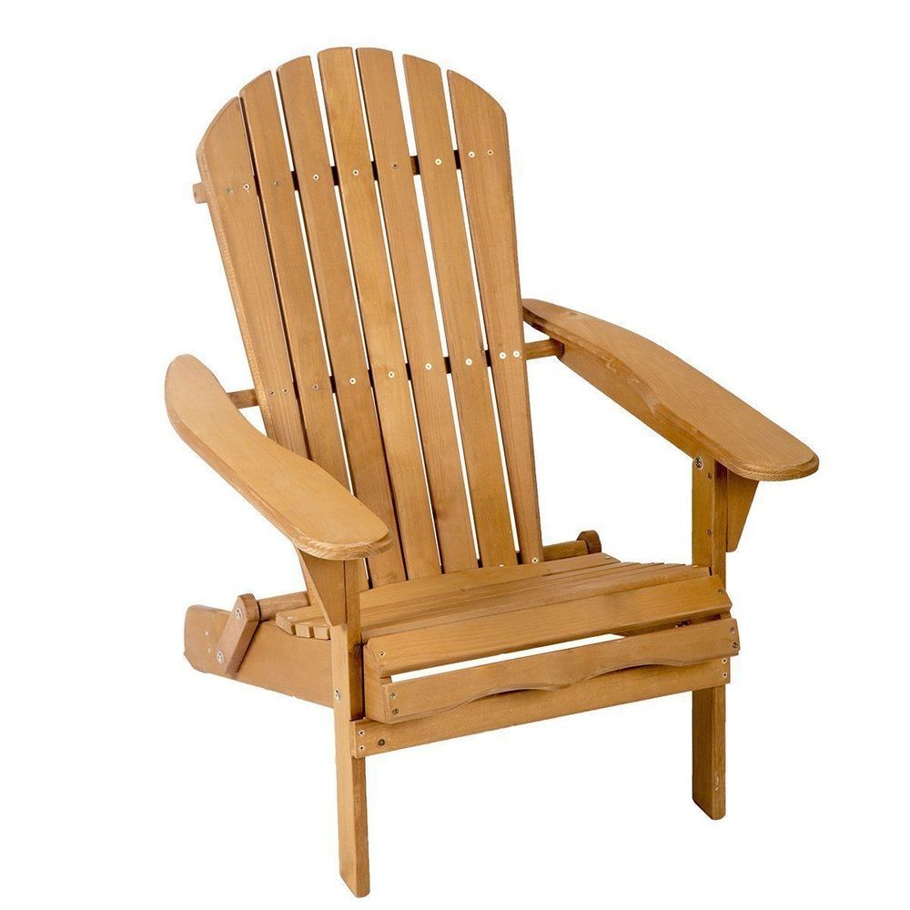 new outdoor wood adirondack chair garden furniture lawn patio deck rh pinterest com