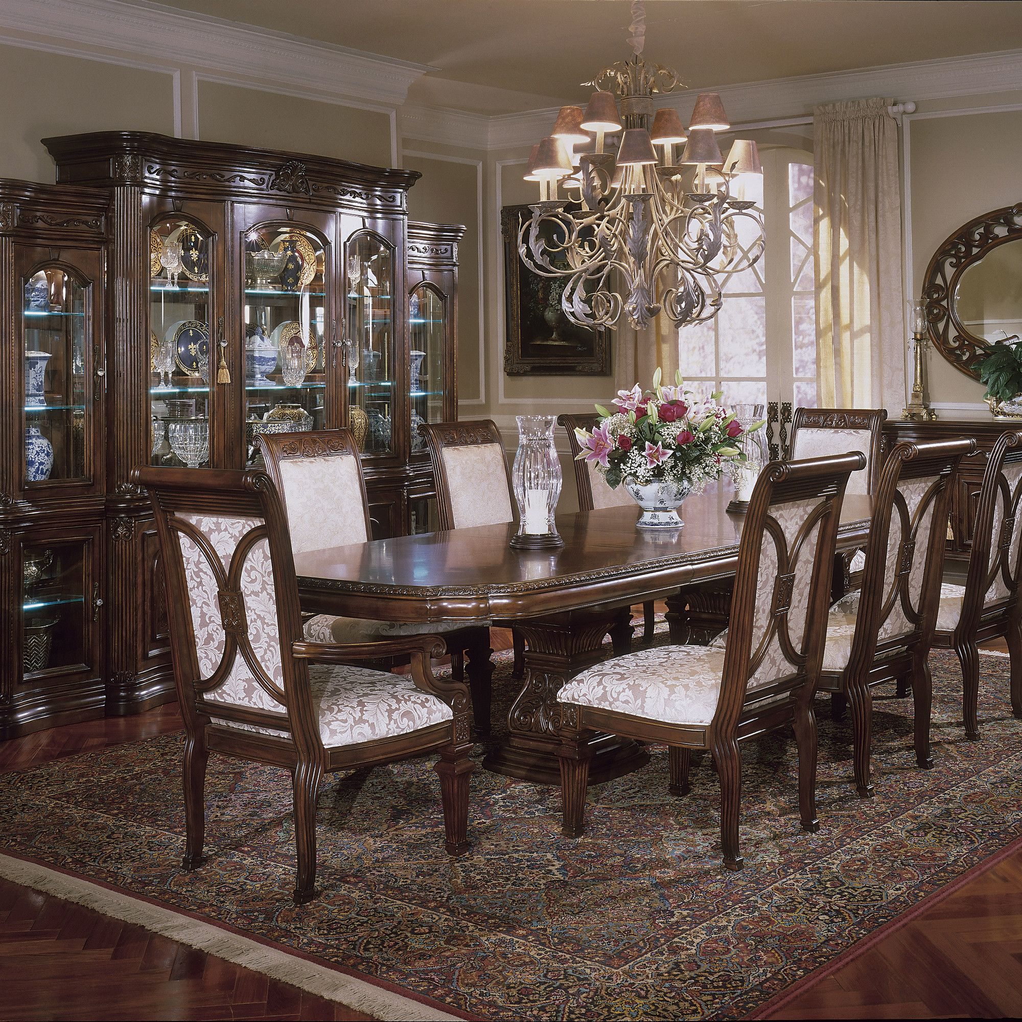 Villagio Dining Room Set With Rectangular Table, Is Manufactured By AICO / Michael  Amini.