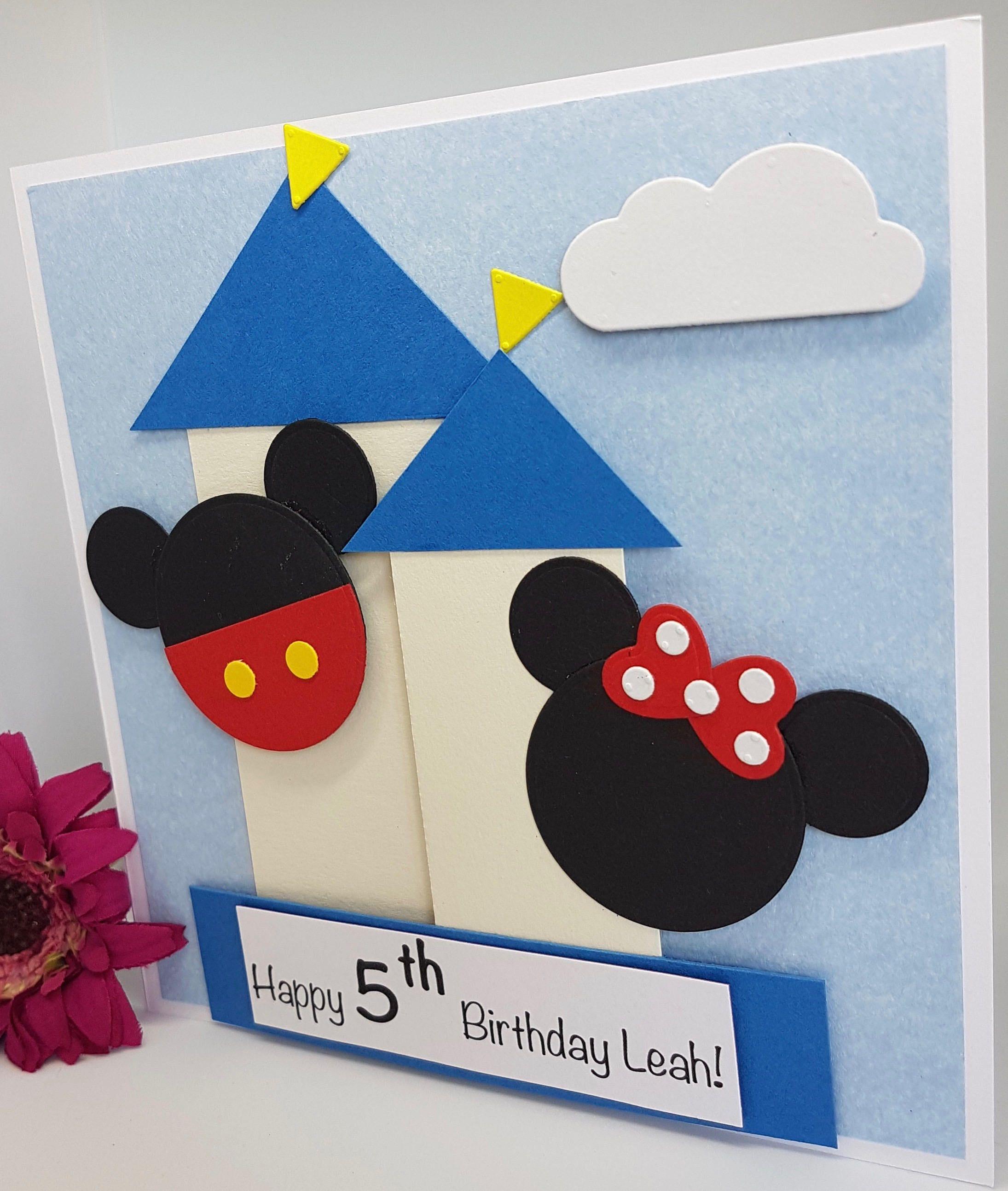 Personalised Mickey Minnie Character Castle Magic Kingdom Birthday