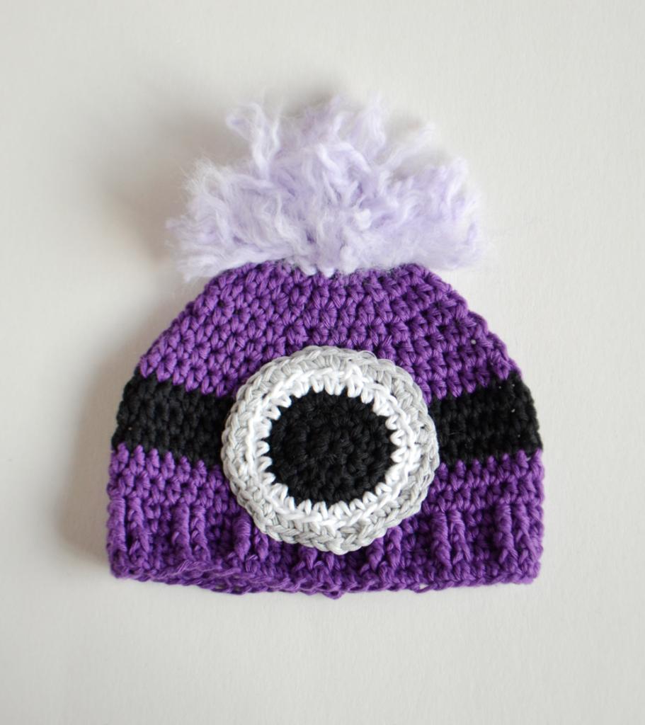 Croby Patterns | Evil Minion Inspired Crochet Baby Hat | Crochet ...