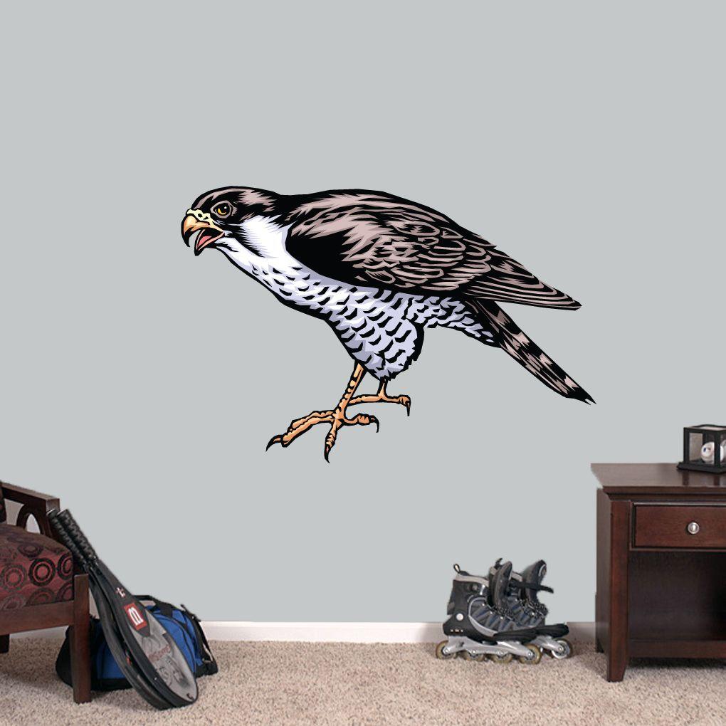 falcon mascot printed wall decals sports wall decals falcons falcon mascot printed wall decals