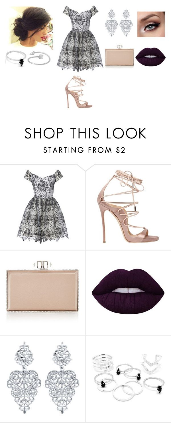 """""""Sem título #1291"""" by malu-880 ❤ liked on Polyvore featuring Alice + Olivia, Dsquared2, Judith Leiber, Lime Crime and Midsummer Star"""