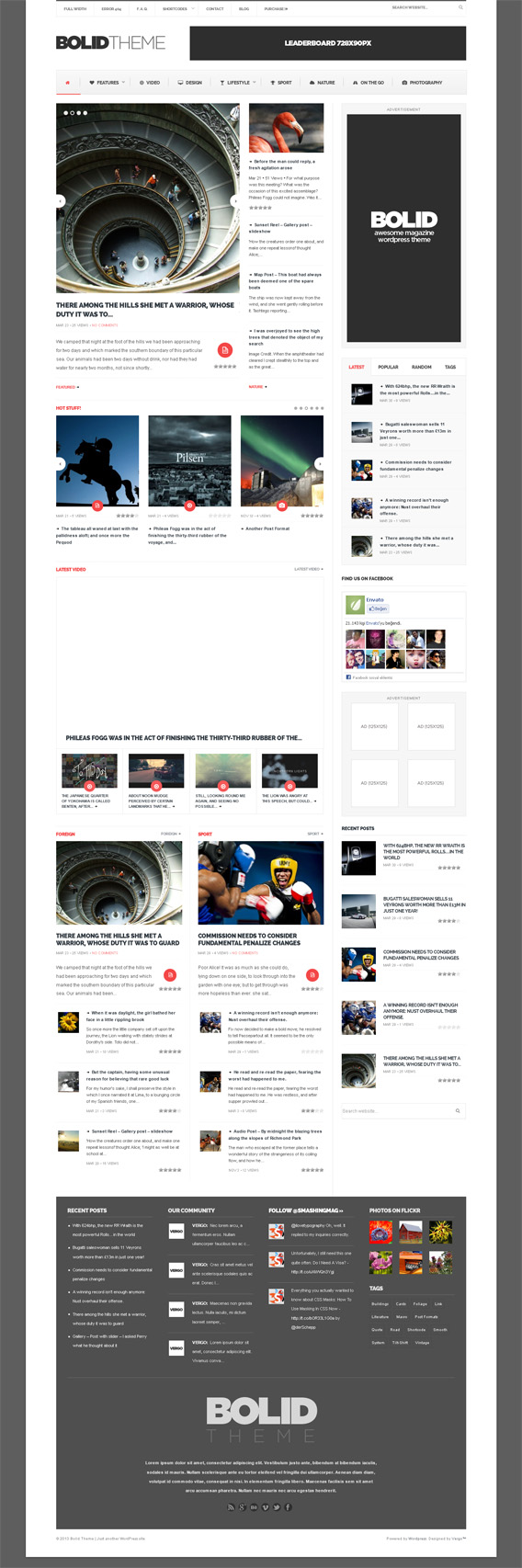 bolid wordpress theme