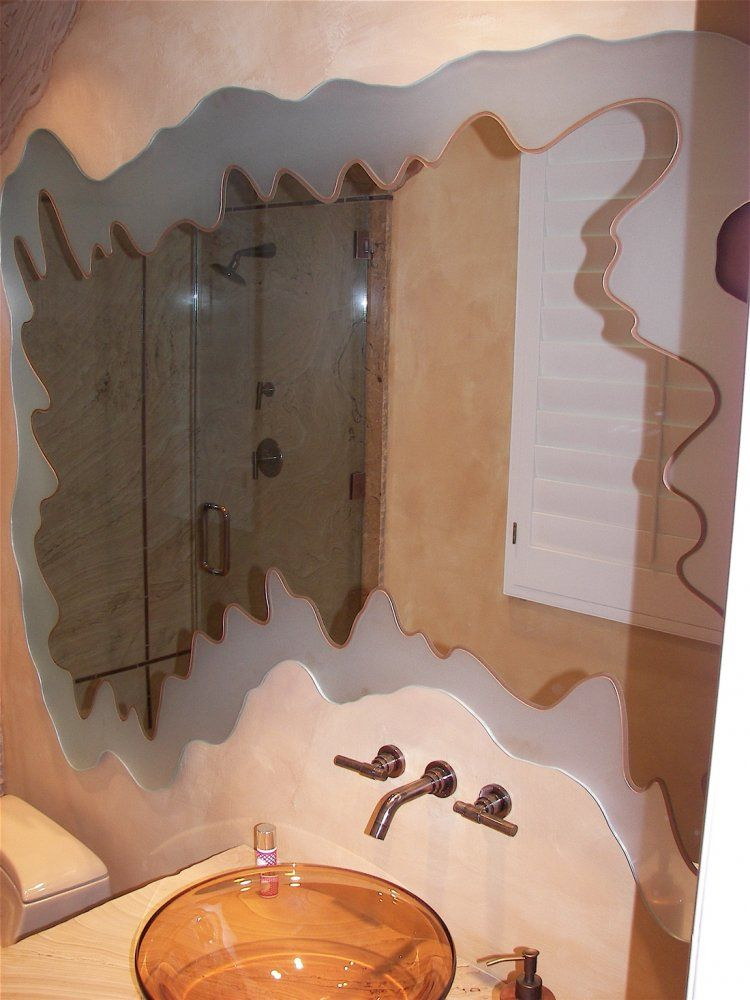 Adria S Bath Mirror Carved And Etched Design