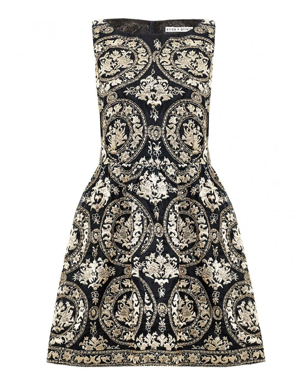 Alice olivia lillyanne embroidered dress purely fashion