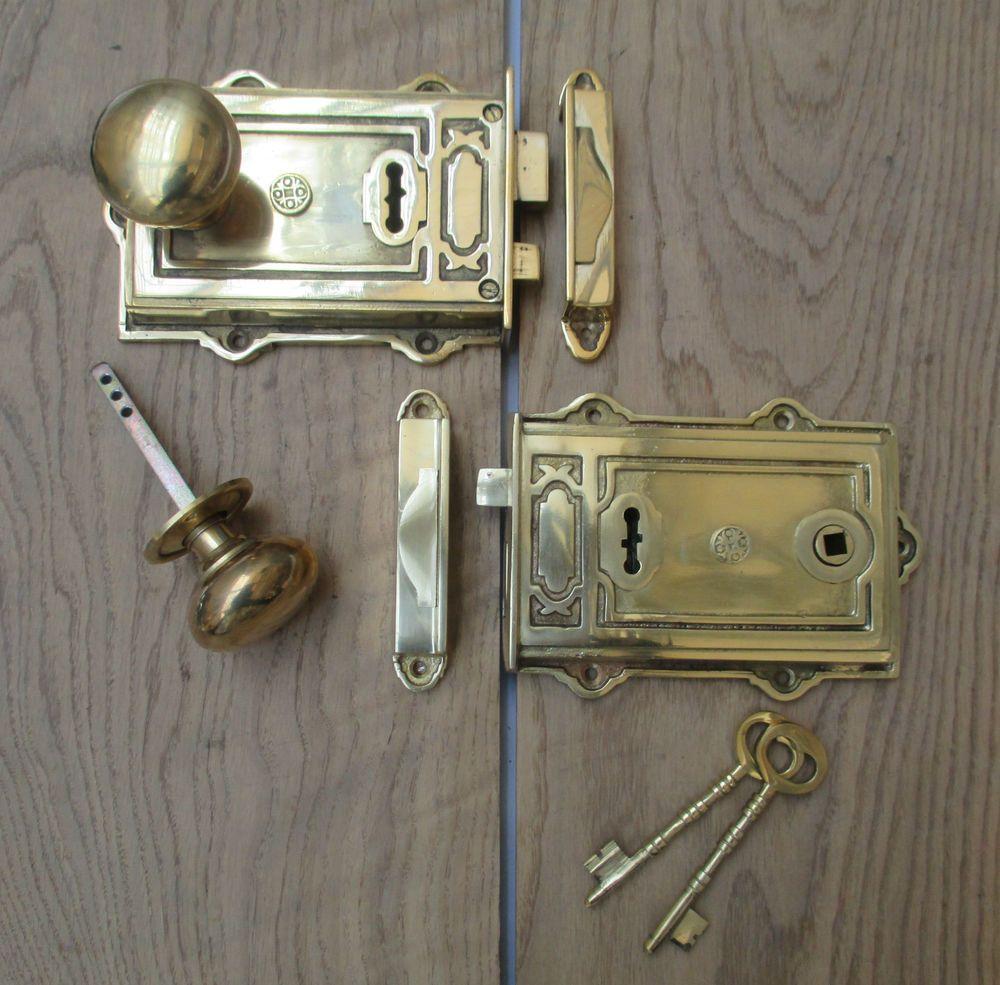 Brass Vintage Old English Victorian Davenport Decorative