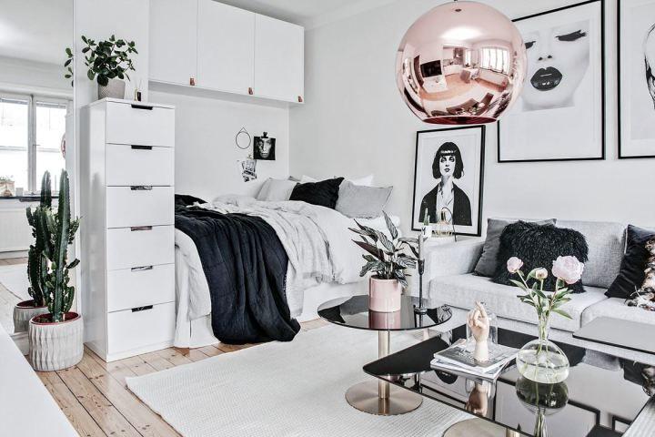 Glamour en 31 m² Decoracion de departamentos, Decoración de - diseo de interiores de departamentos