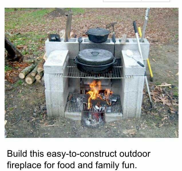 Portable Outdoor Fireplace - DIY