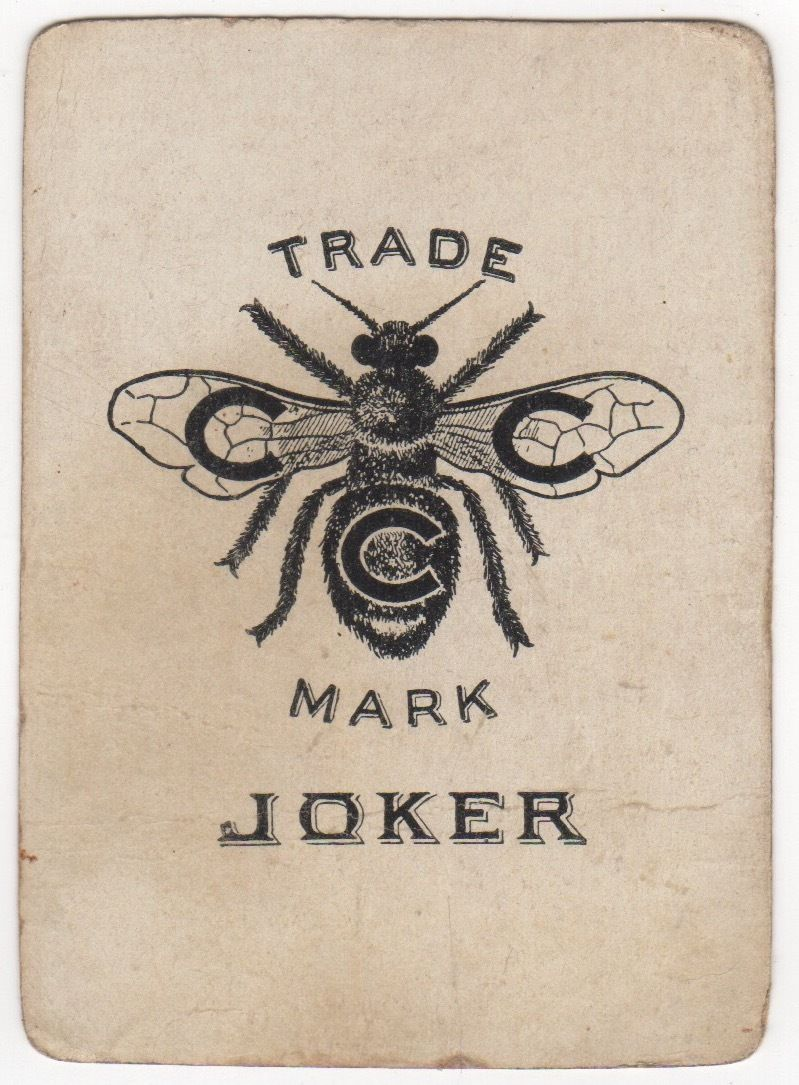 Playing Cards Single Card - Antique Wide JOKER - Rare CCC Bee Trade ...