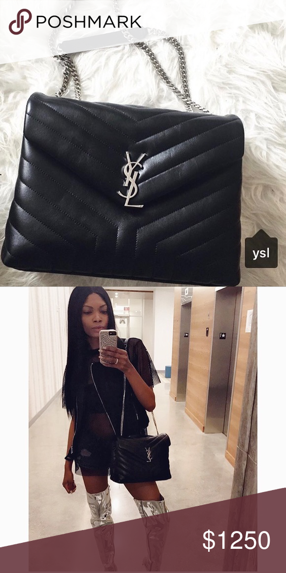 feea906bcab YSL Medium Lou Lou Bag. YSL Yves Saint Laurent Loulou Medium Matelasse Shoulder  Chain Bag