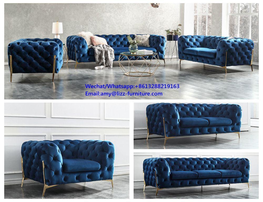 Divani Casa Sheila Modern Dark Blue Fabric Sofa Set Sofa Furniture China Home Livingroom Couch Leather Sofabed Mod Blue Fabric Sofa Sofa Set Furniture