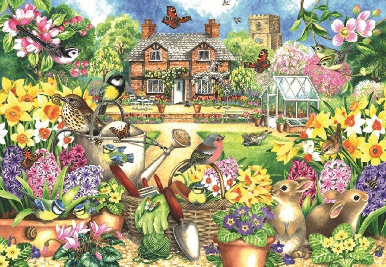spring garden 1000pc jigsaw puzzle by falcon in 2019 jigsaw rh pinterest com