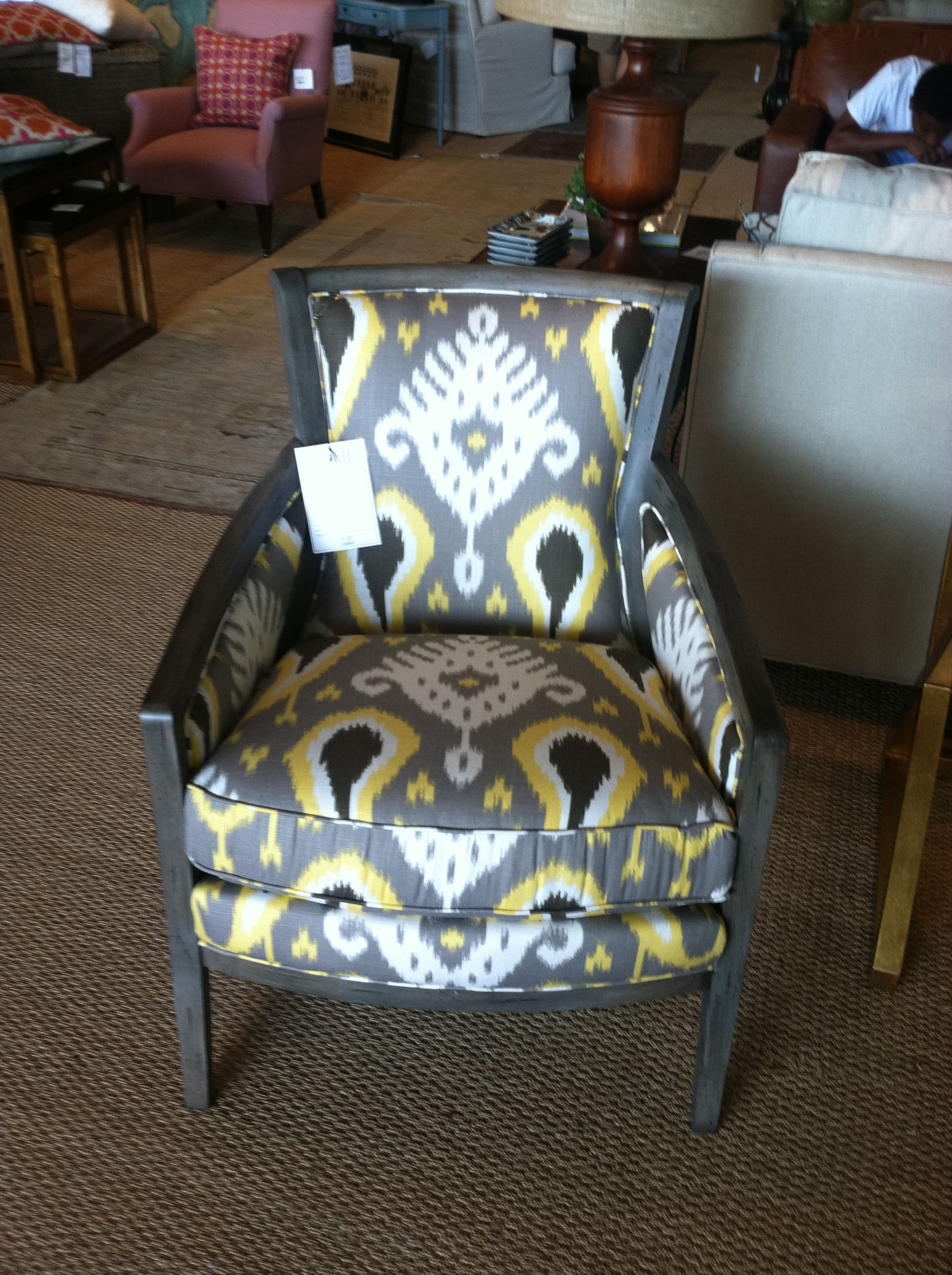 This chair is at G D C Home in Mt Pleasant, SC I love it - do you ...