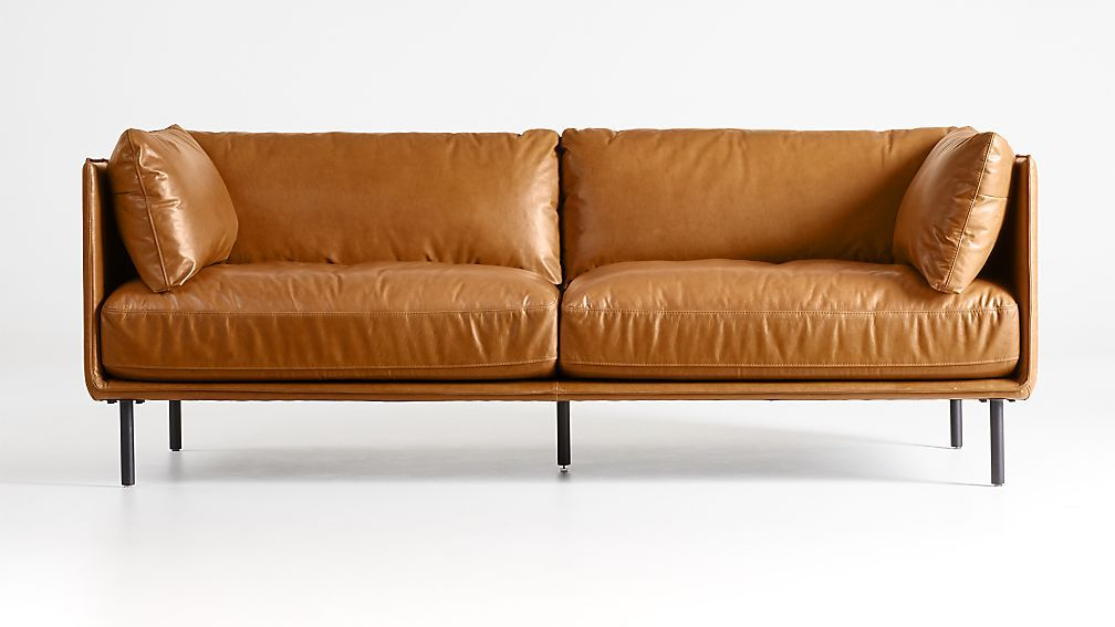 Wells Leather Sofa Reviews Crate And Barrel In 2020 Leather Sofa Crate And Barrel Crates