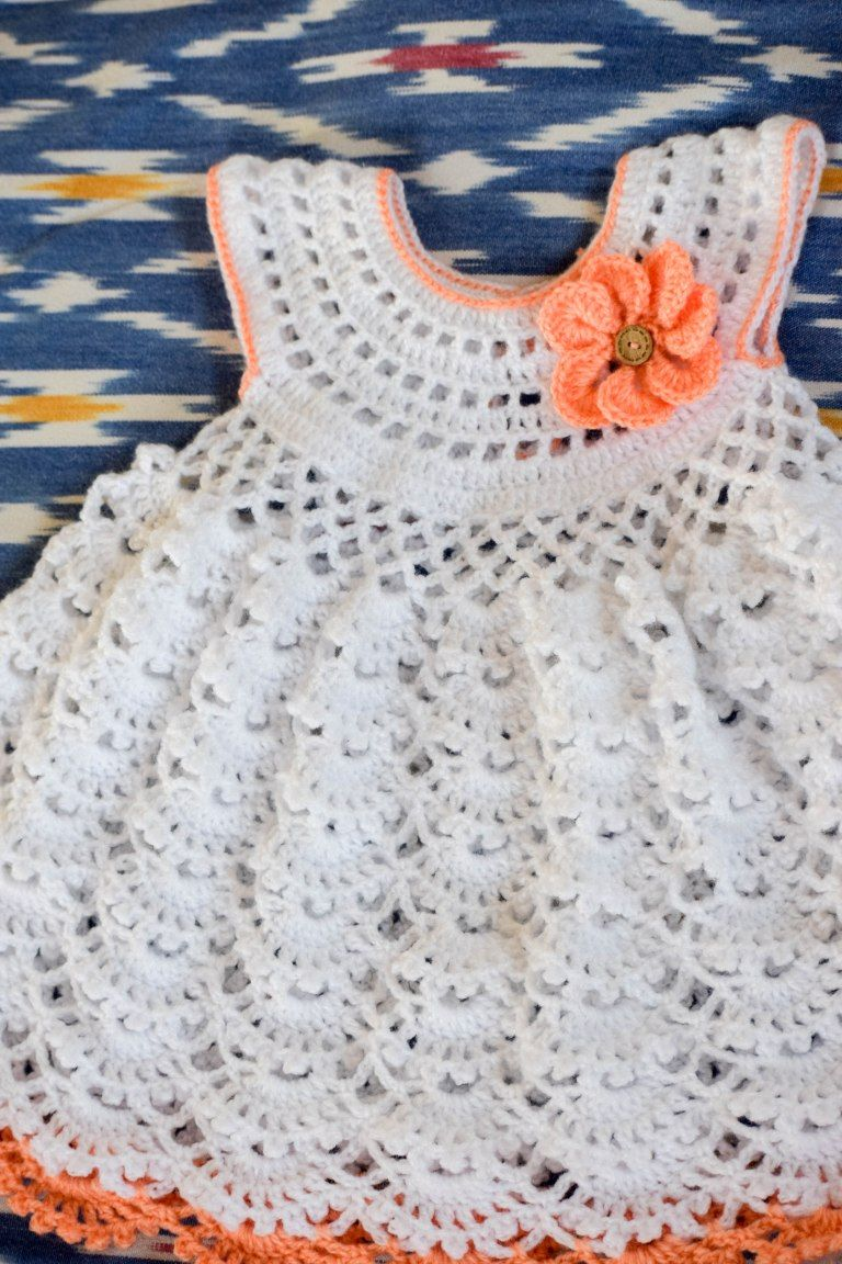 Delilah crochet baby dress | Crocheted Baby Items | Pinterest