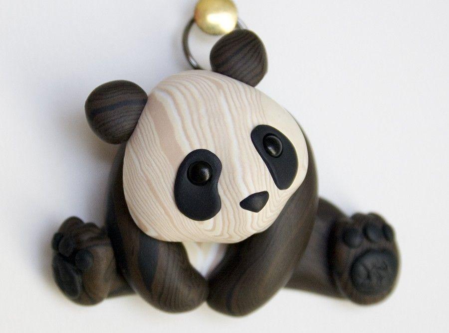 Faux Wood Panda Pendant Masa Porcelana Porcelana Fr 237 A