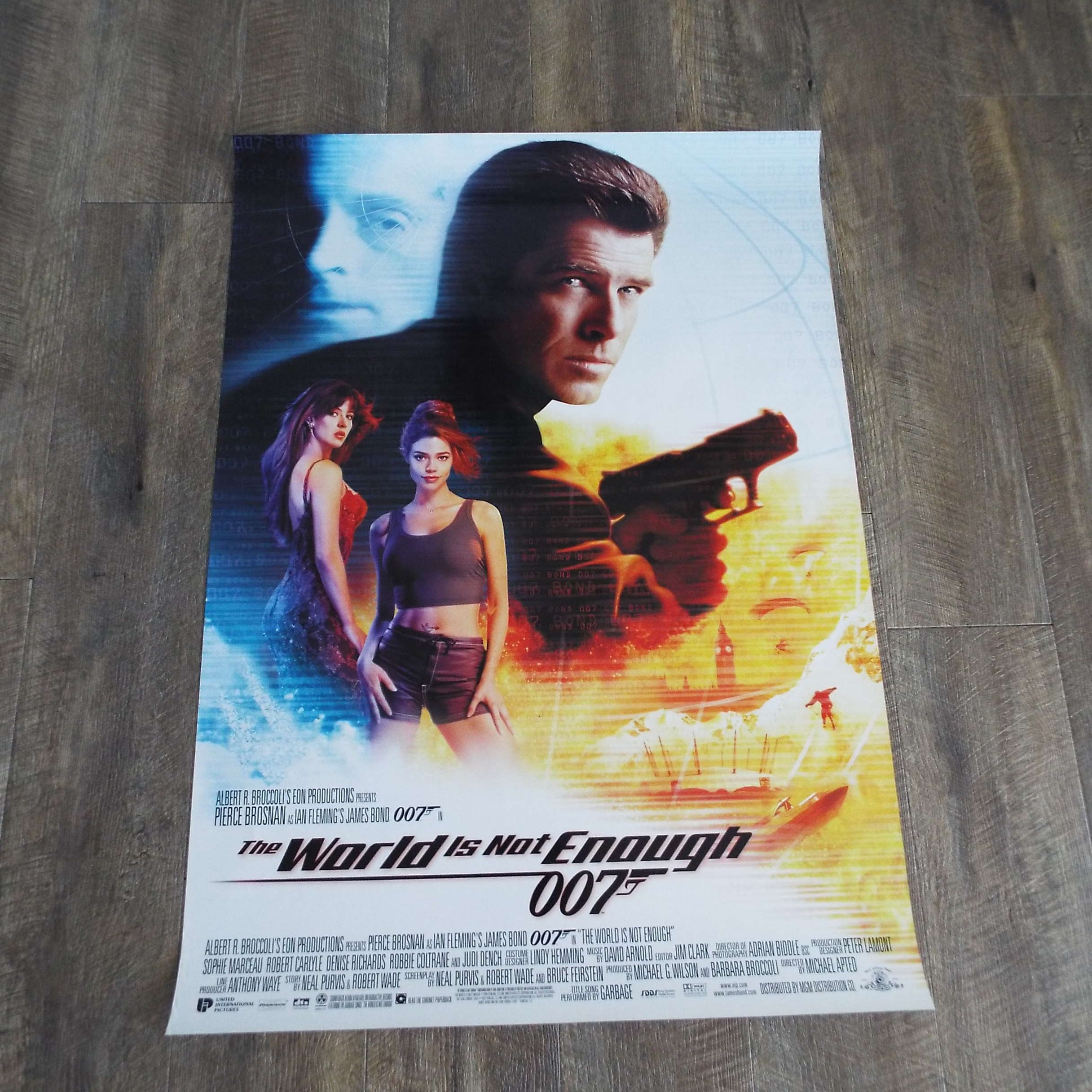 Vintage 1999 The World Is Not Enough Film Movie Poster James Bond