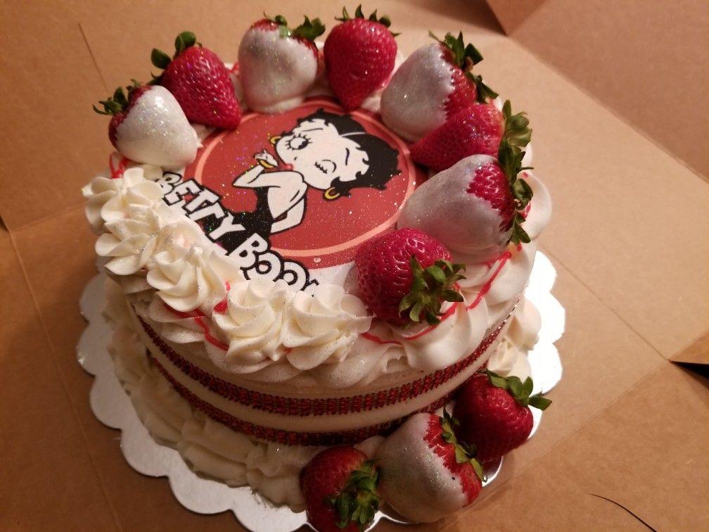 Betty Boop Birthday Cake Red Velvet Cake With
