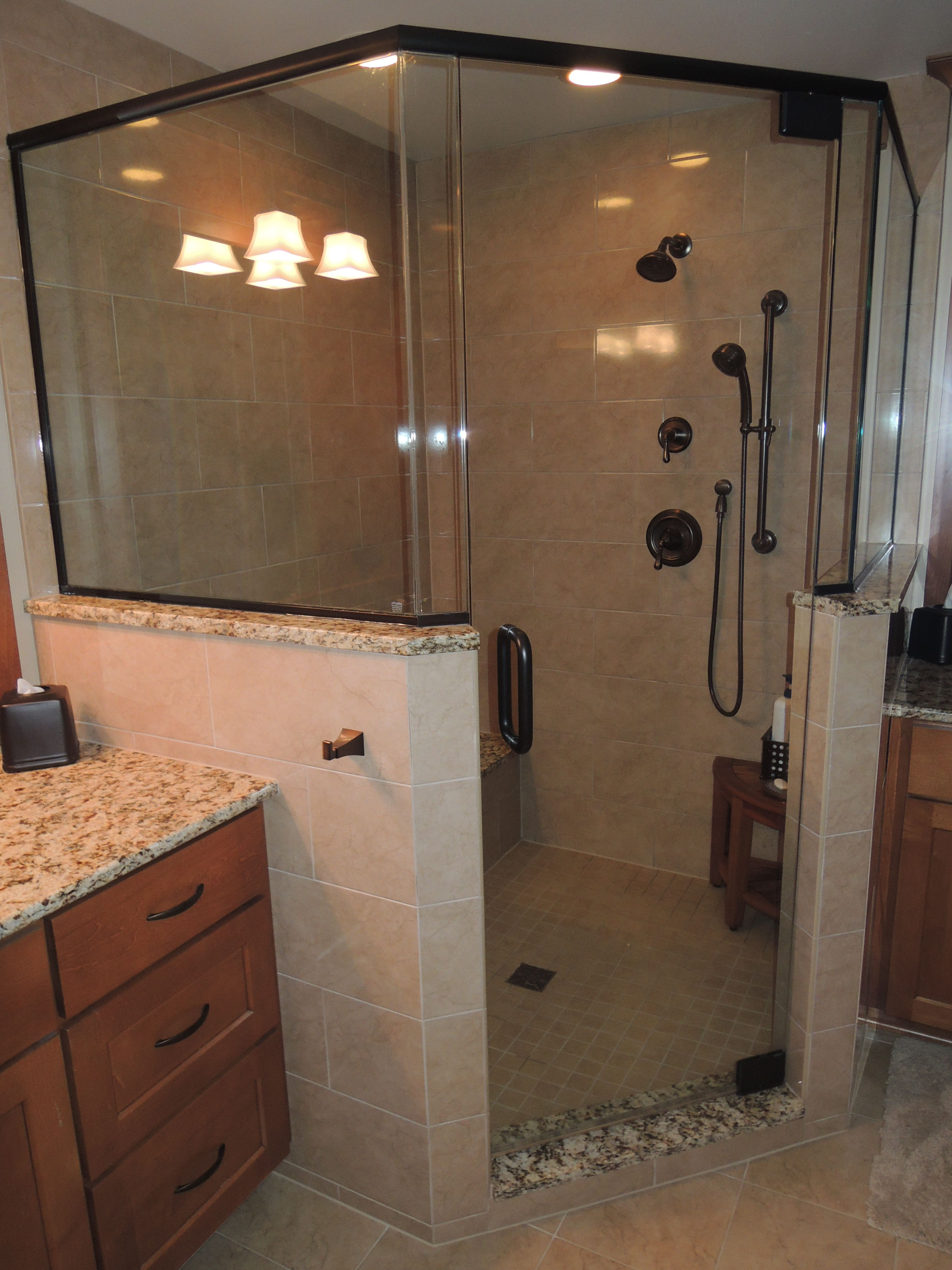 This Gorgeous Bathroom Remodel By Scholl Construction In Crystal - Bathroom remodeling crystal lake il
