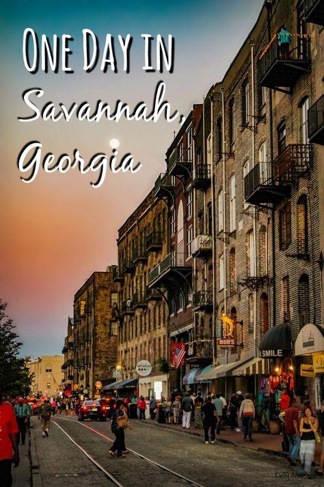 travel to savannah georgia a one day itinerary savannah rh pinterest ca