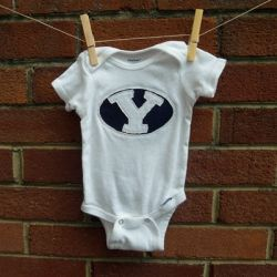 Make your little one a onsie or shirt with your favorite college logo using reverse applique