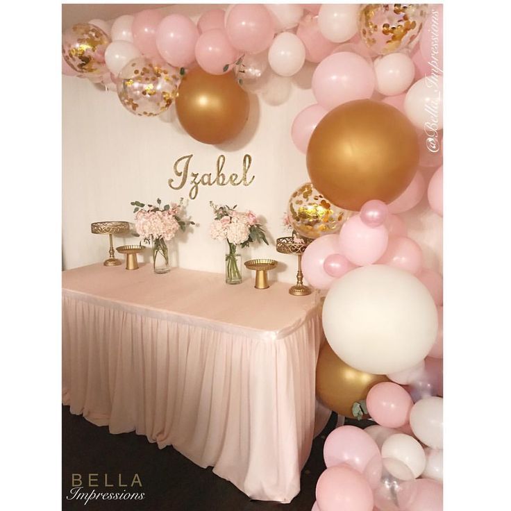 Organic balloon garland backdrop white gold and