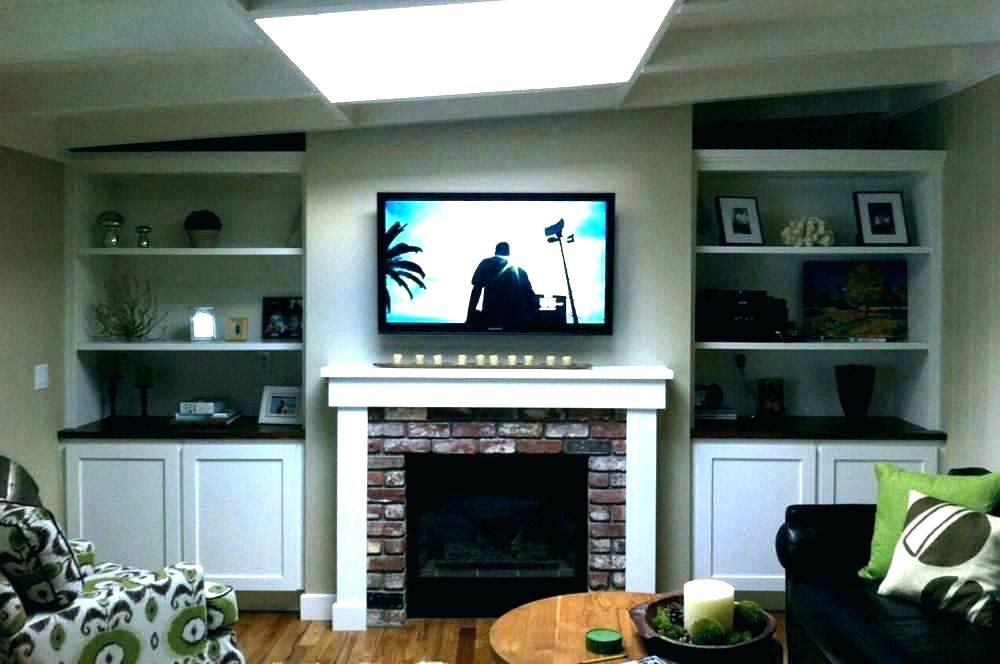 Hang Tv Over Fireplace Mounting Tv Above Brick Fireplace Hiding Tv