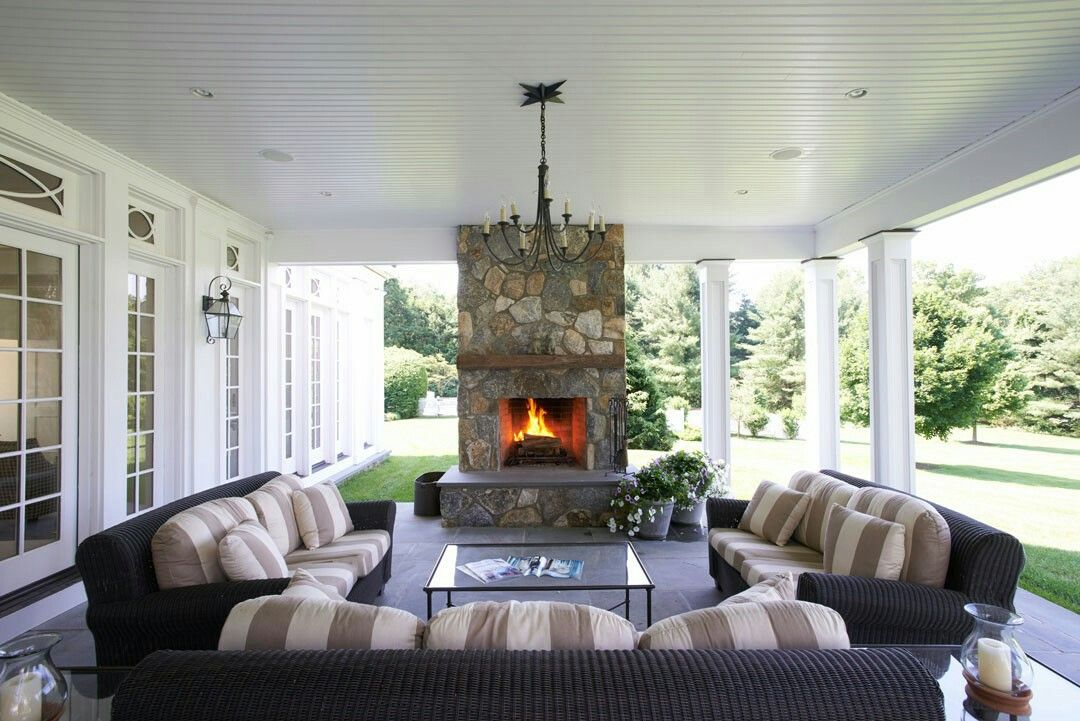 Outdoor fireplaces are fantastic for clients who
