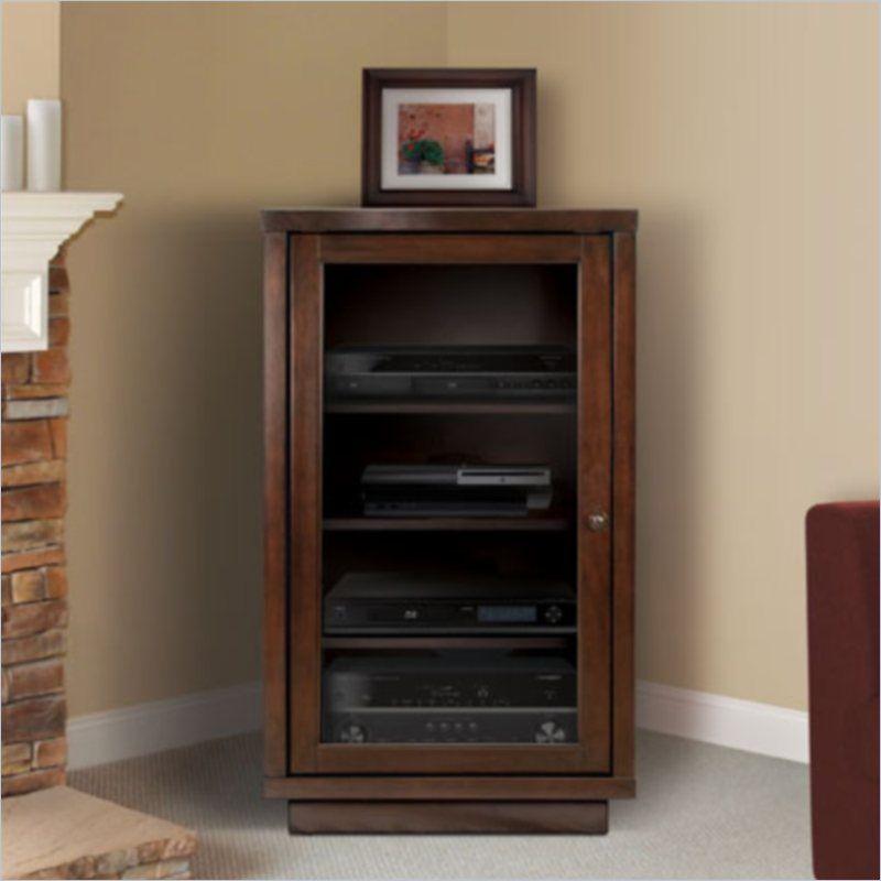 Audio Component Cabinet Media Storage Cabinet Home Small Media Cabinet