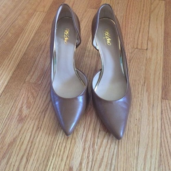 Brown pumps Classic brown pumps, side cut out. Only worn once!! Mossimo Supply Co Shoes Heels