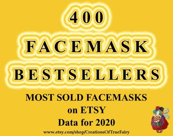 Best selling face masks Most sold facemasks Most popular right now facemask Best selling item handma