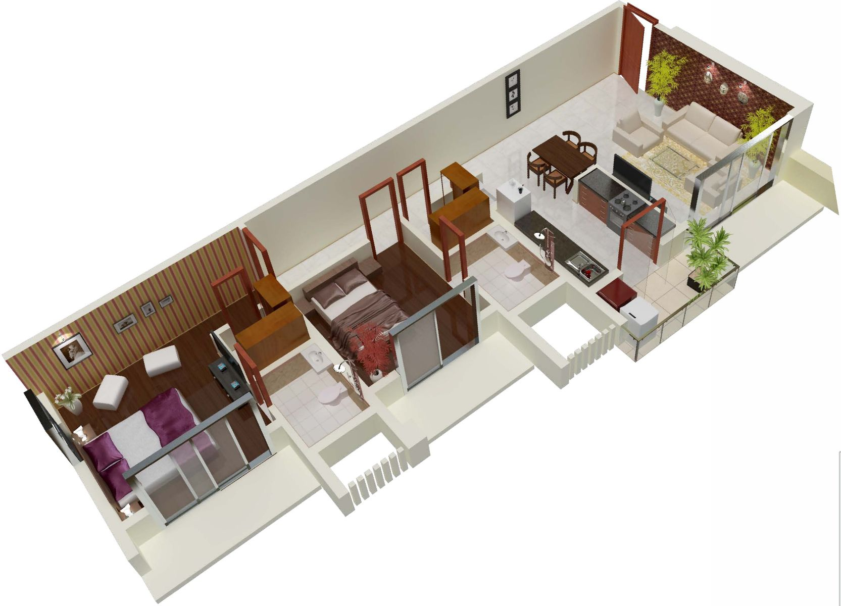 Omkar alta monte floor plan 2bhk 2t 1 200 sq ft 1200 sq for Apartment plans 1200 sq ft