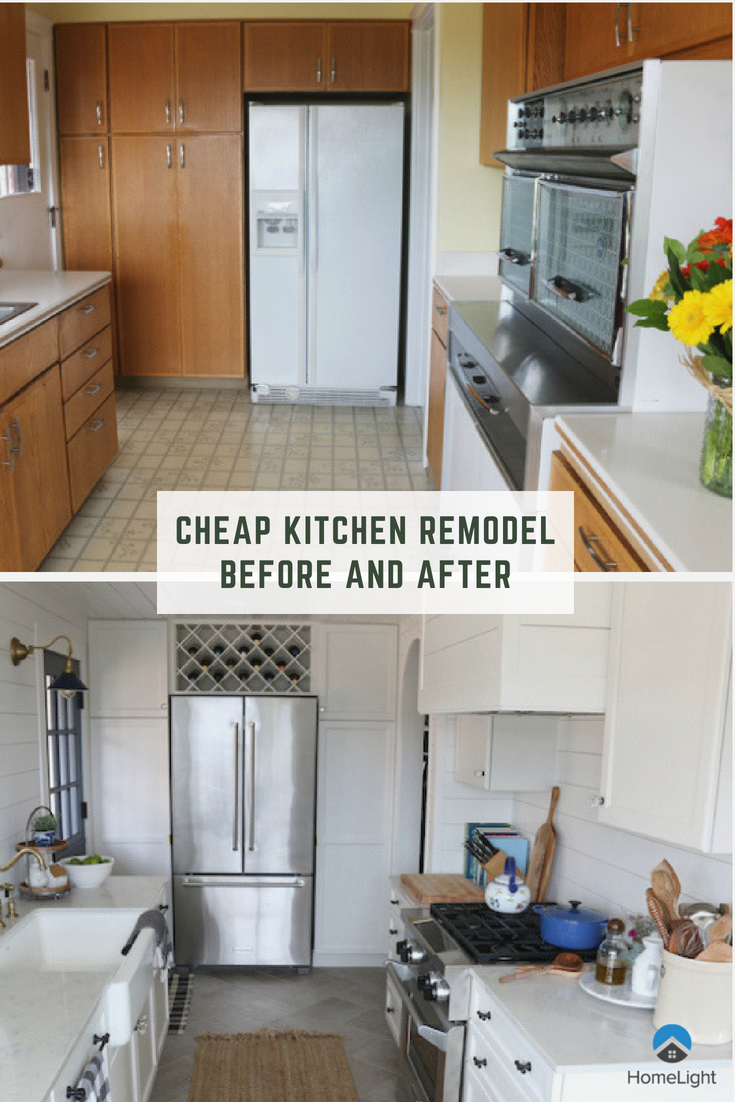 Cheap Kitchen Remodel Before And After Photos If You Re Looking Into Remodeling Your Kitch Kitchen Renovation Cost Kitchen Remodel Small Cheap Kitchen Remodel