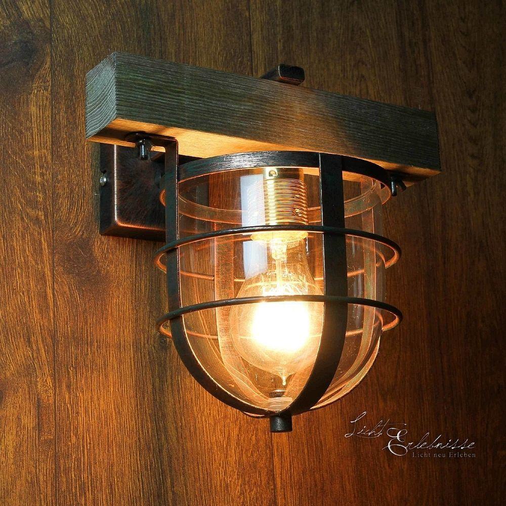 Stilvolle wandleuchte in kupfer e27 vintage wand wandlampe leuchte innen flur in m bel wohnen - Wandleuchte vintage ...